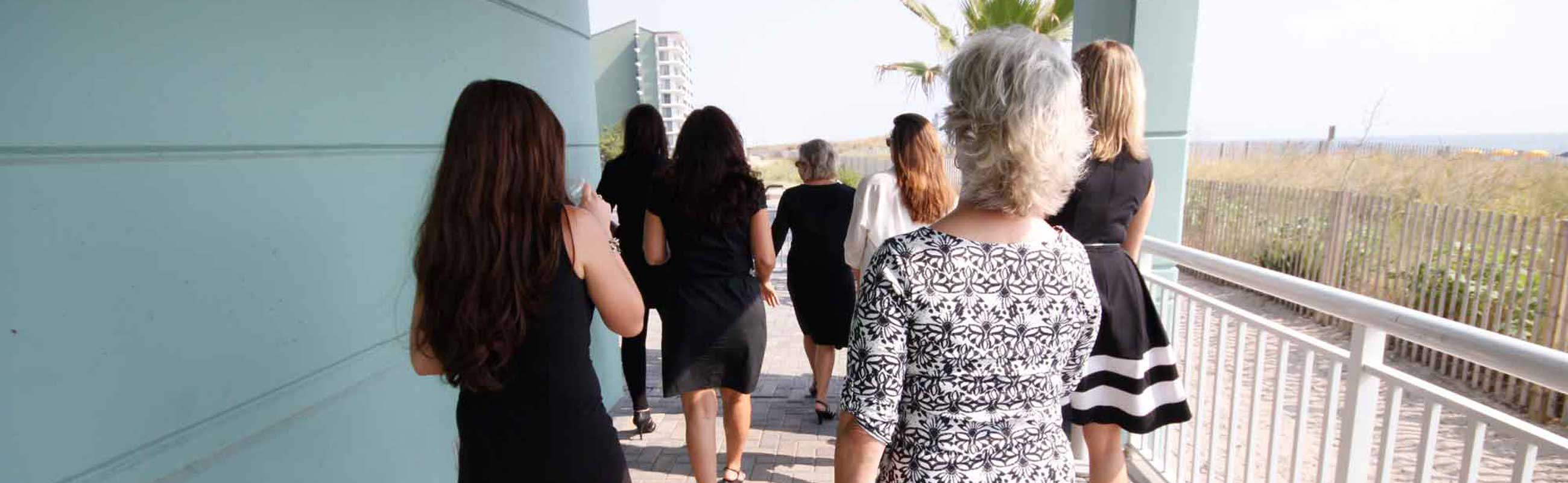 Group Sales Ladies walking to the beach