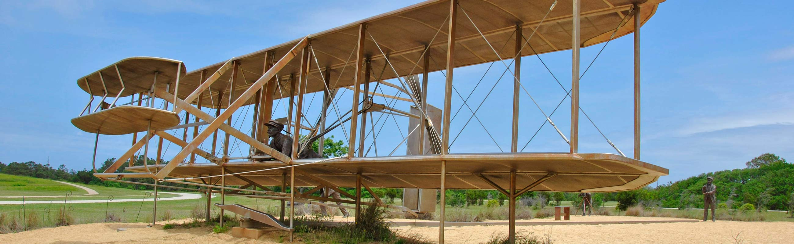a replica of the wright flyer