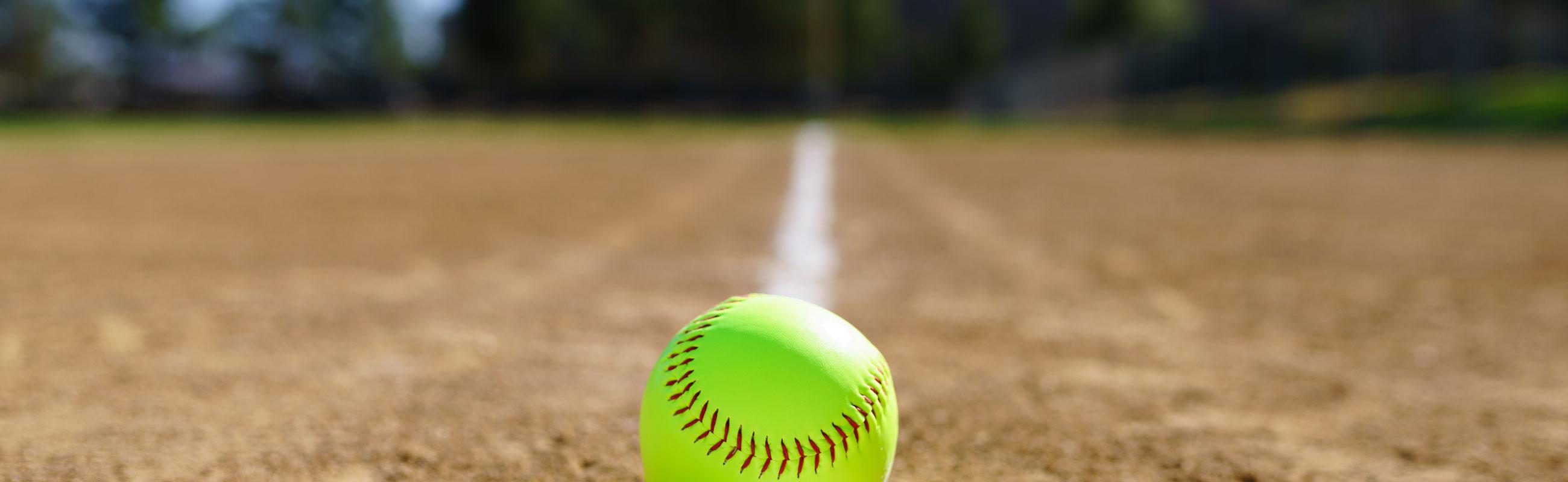 softball on the field